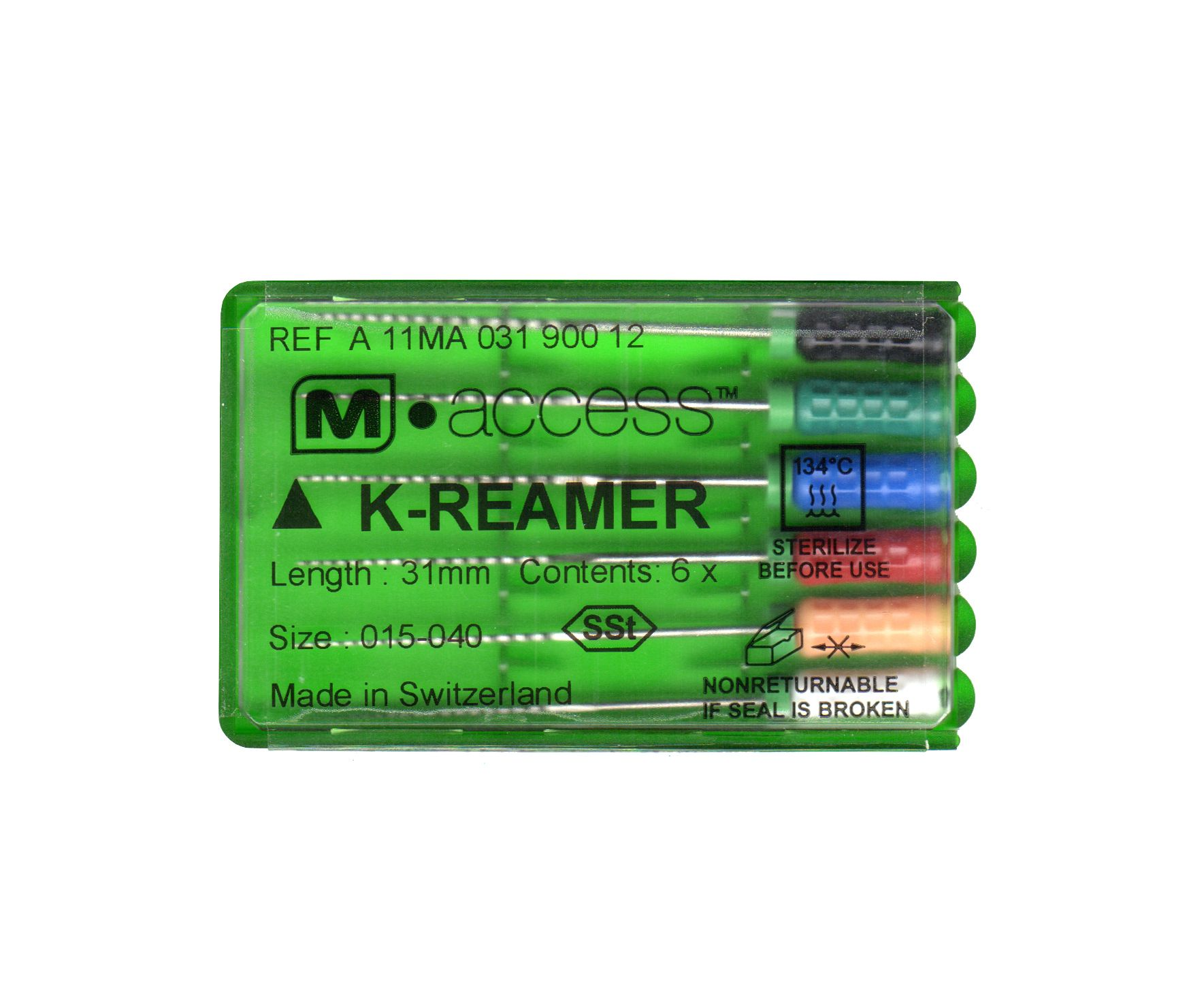 Инструмент ручной Maillefer K-Reamer M-Access №15-40 21мм A11MA02190012