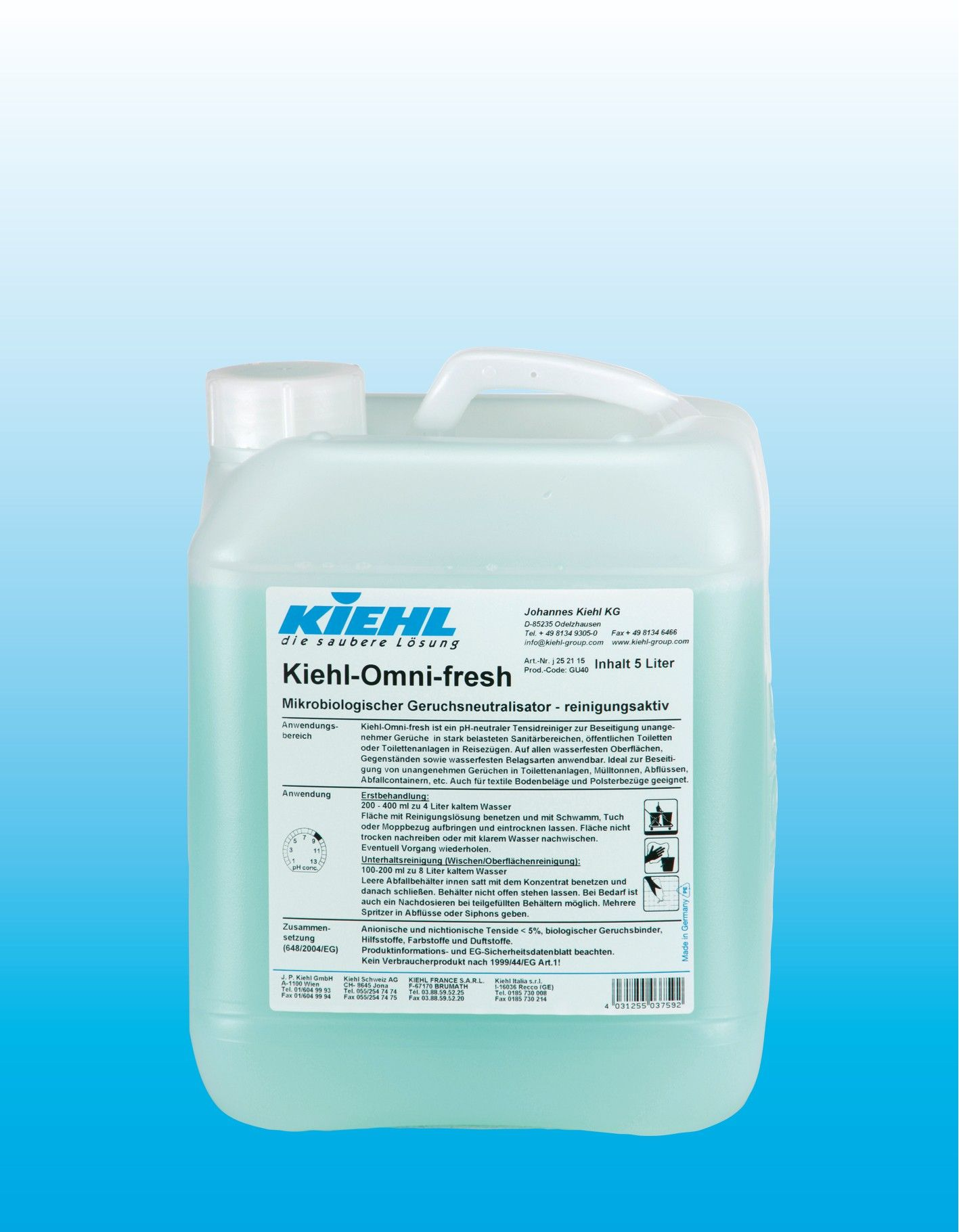 Биологический нейтрализатор запахов, флакон 1 л, Kiehl-Omni-fresh, Johannes Kiehl KG