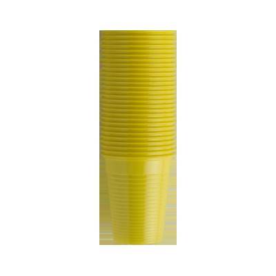 Стаканы пластиковые желтые, 100 шт EURONDA