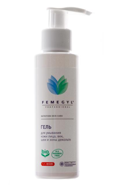 Гель для умывания кожи  лица, век,  шеи и  зоны декольте 100мл, FEMEGYL
