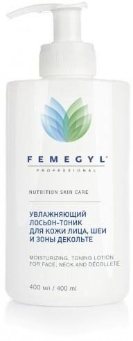 Лосьон-тоник увлажняющий для кожи лица,  шеи и зоны декольте 400мл FEMEGYL