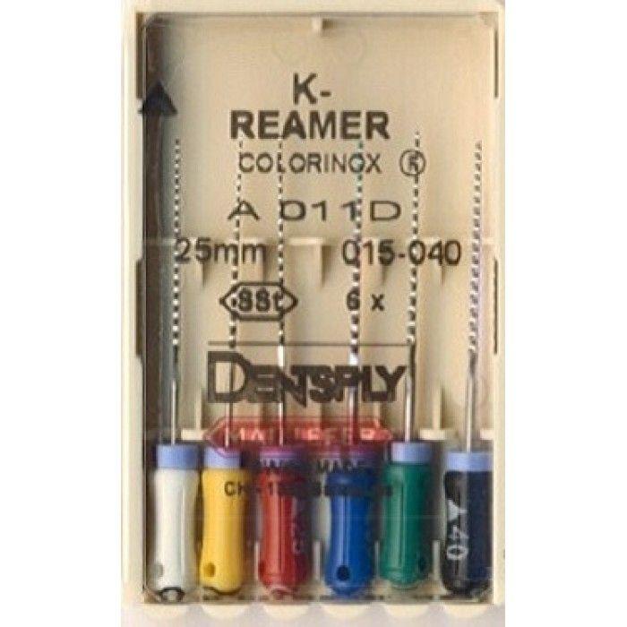 Инструмент ручной Maillefer K-Reamer Colorinox №10 25мм 6шт A011D02501012