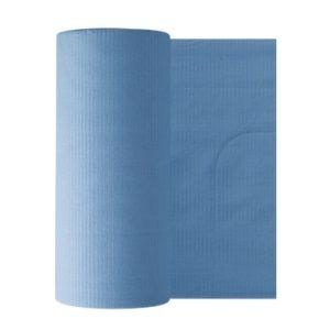 Бумажные фартуки в рулонах для пациентов 80 шт, голубые Euronda