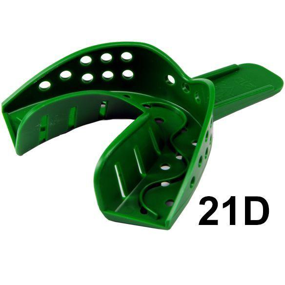 Слепочные ложки пластмассовые, перфорированные, 12 шт, №21 D,  GC