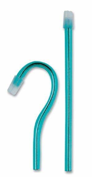 Слюноотсосы Asa Dental BLOSSOM, бирюзовые, 15 см, 100 шт