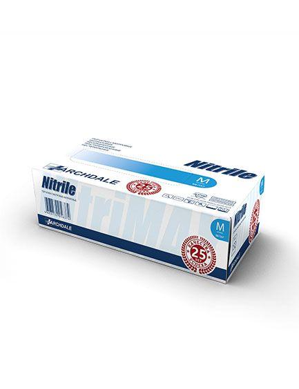 Перчатки нитриловые голубые размер M, 100 шт, TOP GLOVE SDN