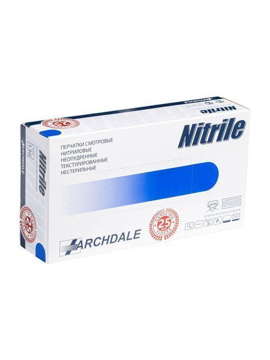 Перчатки нитриловые, фиолетовые, M, 100 шт, Nitri ARCHDALE
