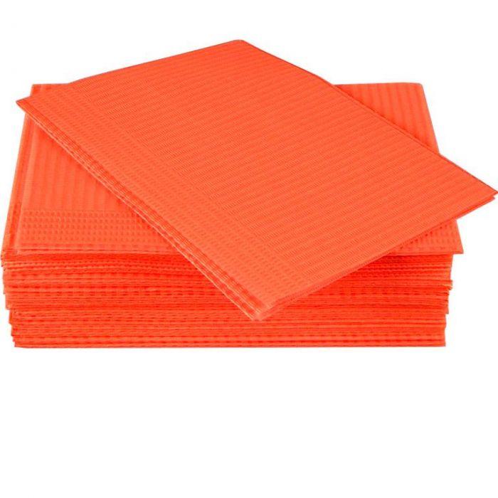 Салфетки процедурные 3-х слойные 33х45см, персиковые, 500 шт, ООО Дисполэнд