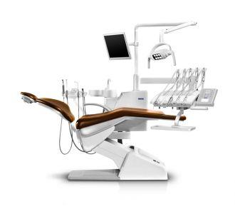 Стоматологическая установка Siger U200 нижняя подача, эжекторного типа, цвет чёрный матовый