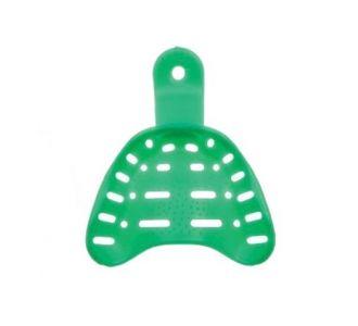 Hi-Tray Light Clear верхняя челюсть (средние) - слепочная ложка из зеленого пластика для беззубой челюсти Zhermack