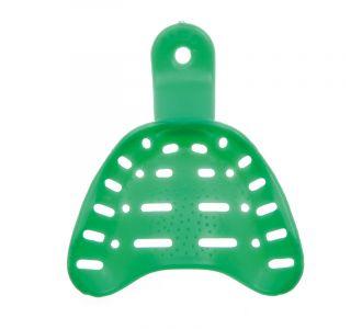 Hi-Tray Light Clear  верхняя челюсть (большие) - слепочная ложка из зеленого пластика для беззубой челюсти Zhermack