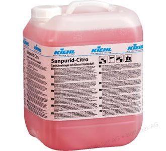 Кислотное средство для интенсивной уборки с лимонным запахом, канистра 10 л, Sanpurid-Citro, Johannes Kiehl KG