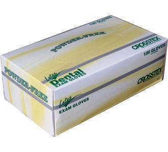 Перчатки латексные светло-желтые, размер ХS, 100шт Powder Free Exam Gloves