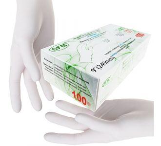 Перчатки нитриловые белые размер XS, 200 шт, SFM-SUPERSOFT
