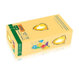 Перчатки латексные, светло-желтые размер L, 100 шт SC TL 201