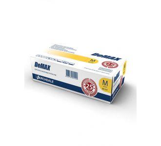 Перчатки латексные светло-желтые размер M, 100 шт, DeMAX