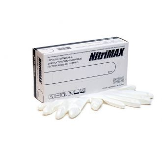 Перчатки нитриловые белые размер XL, 100 шт, ARCHDALE