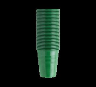 Стаканы пластиковые зеленые, 100 шт EURONDA