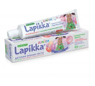 Зубная паста ROCS Lapikka Клубничный мусс с кальцием и микроэлементами 74г
