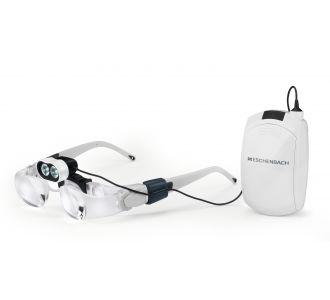 Лупа (очки) бинокулярная асферическая со светодиодной подсветкой для работы с мелкими предметами maxDETAIL, 2.0х