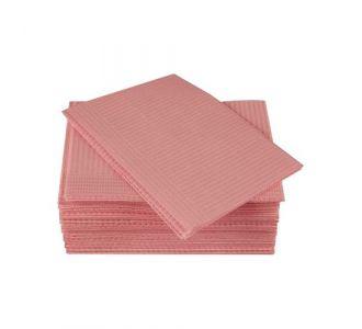 Салфетки процедурные 3-х слойные 33х45см, розовые, 500 шт, ООО Дисполэнд
